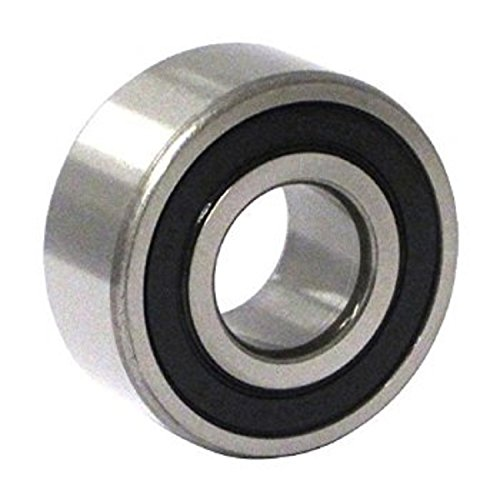 C&U 3203-2RSLC3 Double Row Angular Contact Ball Bearing, ABEC1 Precision, Improved Double Seal, Nylon 66+25% Glass Filled Cage, C3 Clearance, 17 mm Bore, 40 mm OD, 17.5 mm Width, 8.41 kN Static Load Capacity, 12.75 kN Dynamic Load Capacity (Contact Angular Bearings Row Ball)