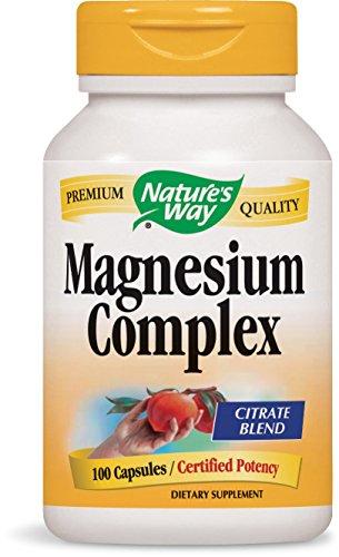 Nature's Way Magnesium Complex, 100 Capsules  (Pack of 2) (Capsules Complex Magnesium 100)