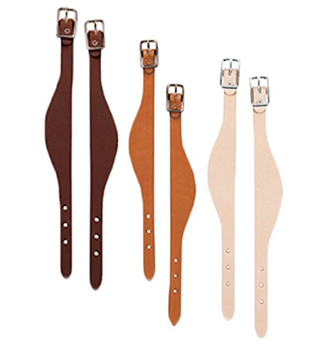 Weaver Skirting Leather Fender Hobbles - Style:Flared Color:Natural (Natural Skirting Leather)
