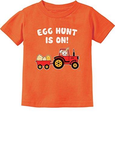 Easter Egg Hunt Gift for Tractor Loving Kids Toddler/Infant Kids T-Shirt 24M - Egg Tractor