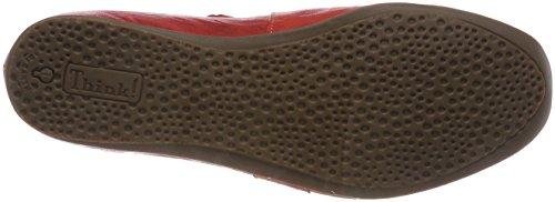 282108 Rosso Ballerine Cinturino Kombi alla Caviglia Think Donna Chilli con 76 Chilli ZWgaSOq
