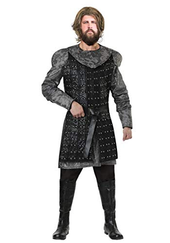 Men's Plus Size Wolf Warrior Costume 3X Black -
