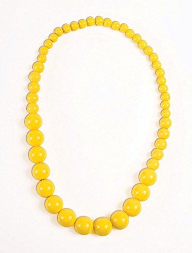 (Forum Novelties Party Supplies 76705 Big Pearls Necklace, Standard, Yellow)