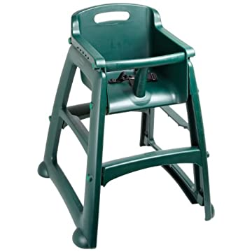 "Rubbermaid Commercial FG781408 Dark Green Sturdy Chair Youth Seat without Wheels, 23.5"" Length, 23.5"" Width, 29.75"" Height"