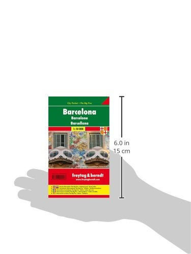 Barcelona City Pocket Map 1:10K FB (English, Spanish, French, Italian and German Edition) 2