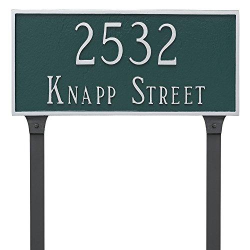 2 Line Lawn Address Plaque (Montague Metal 7.25