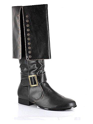 [Captain Adult Costume Shoes Black - Large] (Captain Morgan Costume Women)