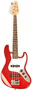 Ursa 2 JR RN PK CAR Red 3/4 Size Bass Guitar Package w/Free Carry Bag, Amp and Instructional Video from SX