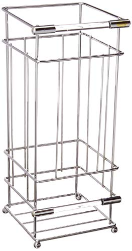Richards Homewares Crystal Toilet Paper Reserve/Acrylic Storage Holder-Satin Nickel Finish-Square Design-Free Standing Modern and Contemporary Bathroom Space Saver, Chrome by Richards Homewares