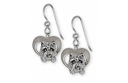 Westie Earrings Jewelry Sterling Silver Handmade West Highland White Terrier Earrings WS3-E