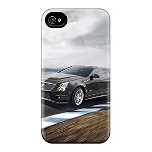New Tpu Hard Case Premium Iphone 4/4s Skin Case Cover(cadillac Cts V)