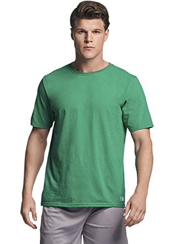 Russell Athletic Men's Performance Cotton Short Sleeve T-Shirt, Kelly, - Green Kelly Polyester
