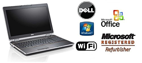 Sleek Dell E6520 Laptop PC - Super Fast Intel Core i5 2.5GHz / 8GB RAM / 'NEW' 120GB Solid State Drive SSD - Windows 7 Pro +MS Office Preinstalled - WiFi - DVD/RW - Refurbished Notebook