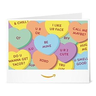 Amazon Gift Card - Print - Candy Hearts (B01MZE145C) | Amazon price tracker / tracking, Amazon price history charts, Amazon price watches, Amazon price drop alerts
