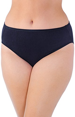 Vanity Fair Stretch Briefs (Vanity Fair Women's illumination Hi Cut Plus Size Panty 13810, Midnight Black, 4X-Large/11)
