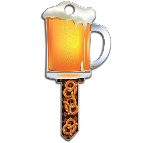 Lucky Line Key Shapes, BEER MUG,  House Key Blank, KW1/11, 1 Key (B110K)