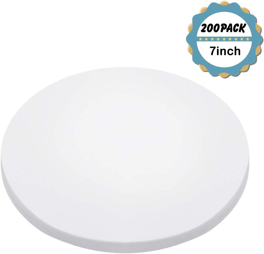 Kasmoire 7inch Round Parchment Paper(200Pack), for Baking Cakes,Cooking,Cookies,Pastries,Dutch Oven,Air Fryer,Tortilla Press