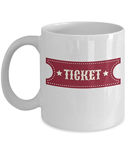 Carnival Circus Games Admission Ticket Mug - Party Supplies Decorations For Prizes King Admit One