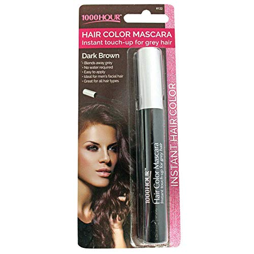 1000 Hour Hair Color Mascara Temporary Hair Color & Root Touch Up (Dark Brown) by Unknown