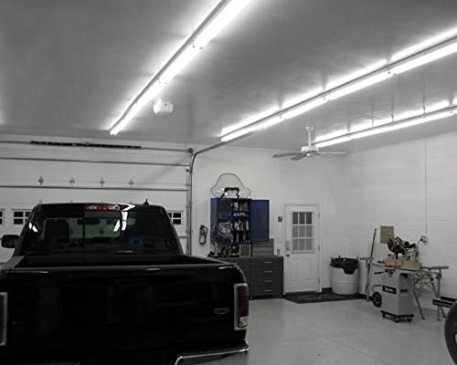 4ft 40w Linkable Led Utility Shop Light 4100 Lumens Etl Listed Double Integrated Led Ceiling