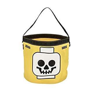 LEGO Skull Halloween Tote, Yellow, One Size