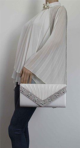 SwankySwans, Poschette giorno donna Taglia unica Ivory White