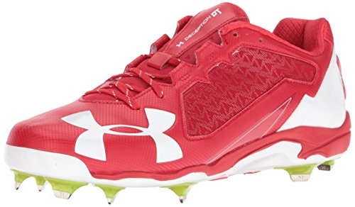 Under ArmourUnder Armour Mens Deception Low DiamondTips Baseball Cleats - Deception Low Diamondtips Baseball Cleats da uomo Red/White