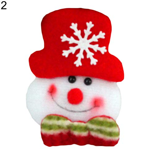 Price comparison product image ZCON LED Glowing Cartoon Santa Claus Snowman Deer Christmas Brooch Pin Cute Xmas Toy - 2#
