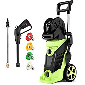 Homdox 3490PSI Electric Pressure Washer, 1800W Power Cleaner, Telescopic Rod high-Pressure Cleaner, Professional Cleaner…