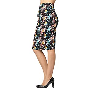 Premium Women's Pencil Skirt – Elastic Waist – Stretch Bodycon Midi Skirt – Many Colors