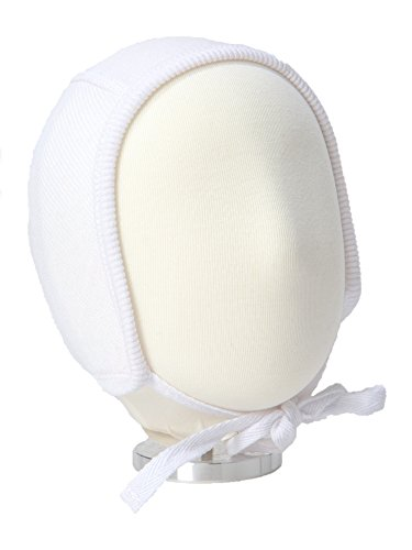 B&D Baby Bonnet: Soft Cotton Pilot Hat For Newborns, Infants, Toddlers - Ribbed Beanie With String Ties In 4 Colors - Fitted Baby Cap For Girls & Boys - Ideal For Christenings, Baby Showers, Birthdays