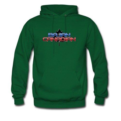Spreadshirt Men's Bajan Canadian Hoodie, forest green, S