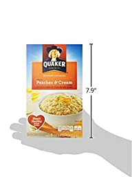 Quaker Instant Oatmeal, Fruit and Cream Peaches N Cream, 10 ct, 1.23 oz