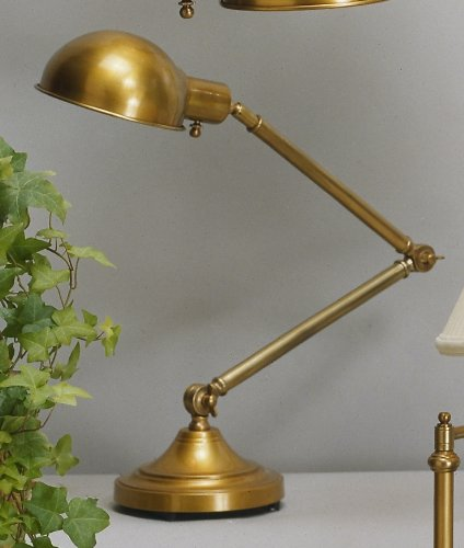 Robert Abbey 1500 Lamps with Metal Shades, Antique Brass Finish, 36