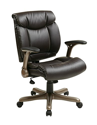 Office Star Executive Bonded Leather Chair in Cocoa/Espresso