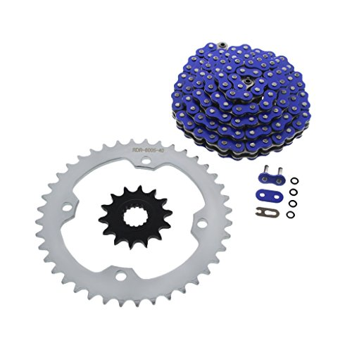 Blue O-Ring Chain & Silver Sprocket 14/40 102L 10-2013 for sale  Delivered anywhere in USA