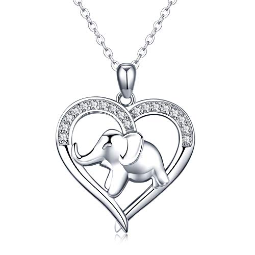 925 Sterling Silver Elephant Necklace for Women Birthday Anniversay Gifts for Her Sister Friend(4 elephant necklace)