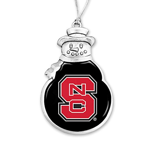 North Carolina State Wolfpack Snowman Christmas Ornament (Pewter Ornament Snowman)