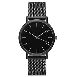 ruhiku GW nueva moda las mujeres pulsera de reloj de pulsera de cuarzo analógico de acero inoxidable Cristal