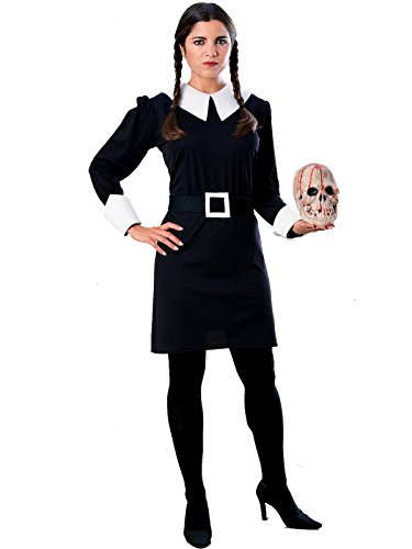 Rubie's Women's The Addams Family Wednesday Costume, Black, Small]()