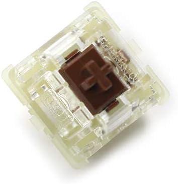 Ventas al por mayor Auténtico SMD RGB Cherry mx Switch 3 pines Teclado mecánico Velocidad Plata Silencioso rojo Azul Rosa Interruptores (Marrón 3 ...
