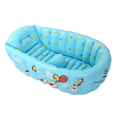f3b20dbb8cdbe MINGLI Inflatable Bathtub, Children Folding Tub Baby Swimming Pool Bathing  Pool 90CM53CM30CM (Color : A)