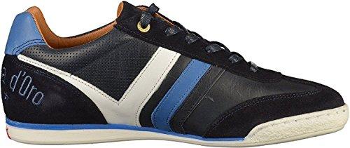 Pantofola Dora Vasto Hommes Baskets En Cuir Homme Blanc Marin Bas