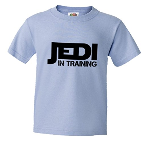Youth Jedi In Training Cute Warrior SW Soft HQ Tee - Light Blue