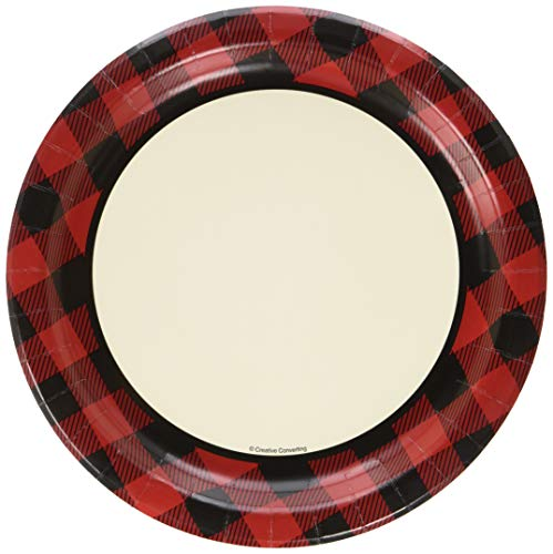 Creative Converting 321825 8 Count Buffalo Plaid Dinner Plates, Any, Multicolor