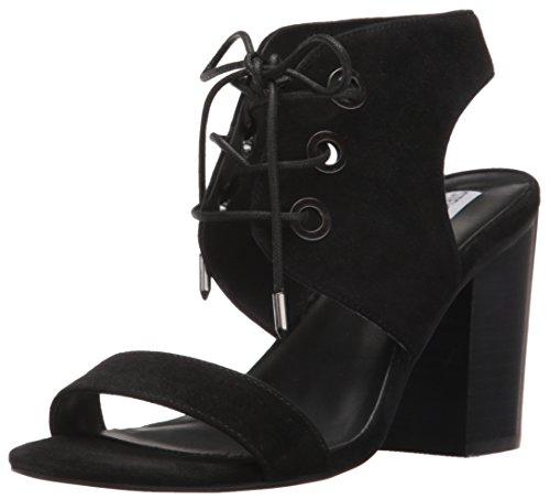 Steve Madden Elgin de la mujer vestido sandalia Negro GamuzaBlack Suede)