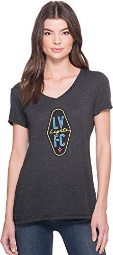 Las Vegas Lights F.C.. Women's Logo V-Neck Tee Black Medium (Las Vegas Lights)