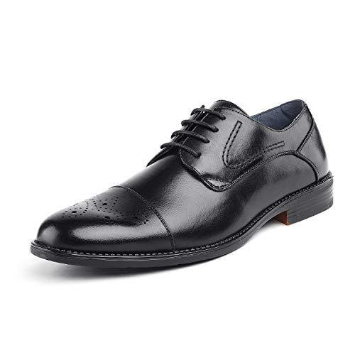 Bruno Marc Men's Halsted-01 Black Leather Lined Dress Oxfords Shoes - 10.5 M US