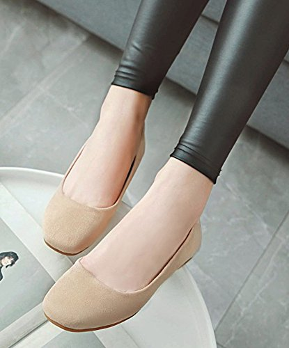 On Flat Low Comfy Women's Loafers Square Slip Toe Beige Aisun Top xR10q8