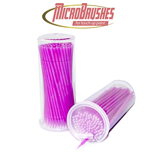 Gold Label Detailing Micro Brush Touch up Paint Applicators 100 Pack | Disposable and Bendable | Multiple Tip (2.0mm tip)